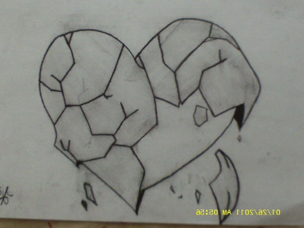 tag broken heart drawings in pencil drawing and