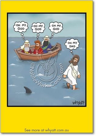 Oh My Dad Card Funny Cartoons Christian Humor Funny Toons