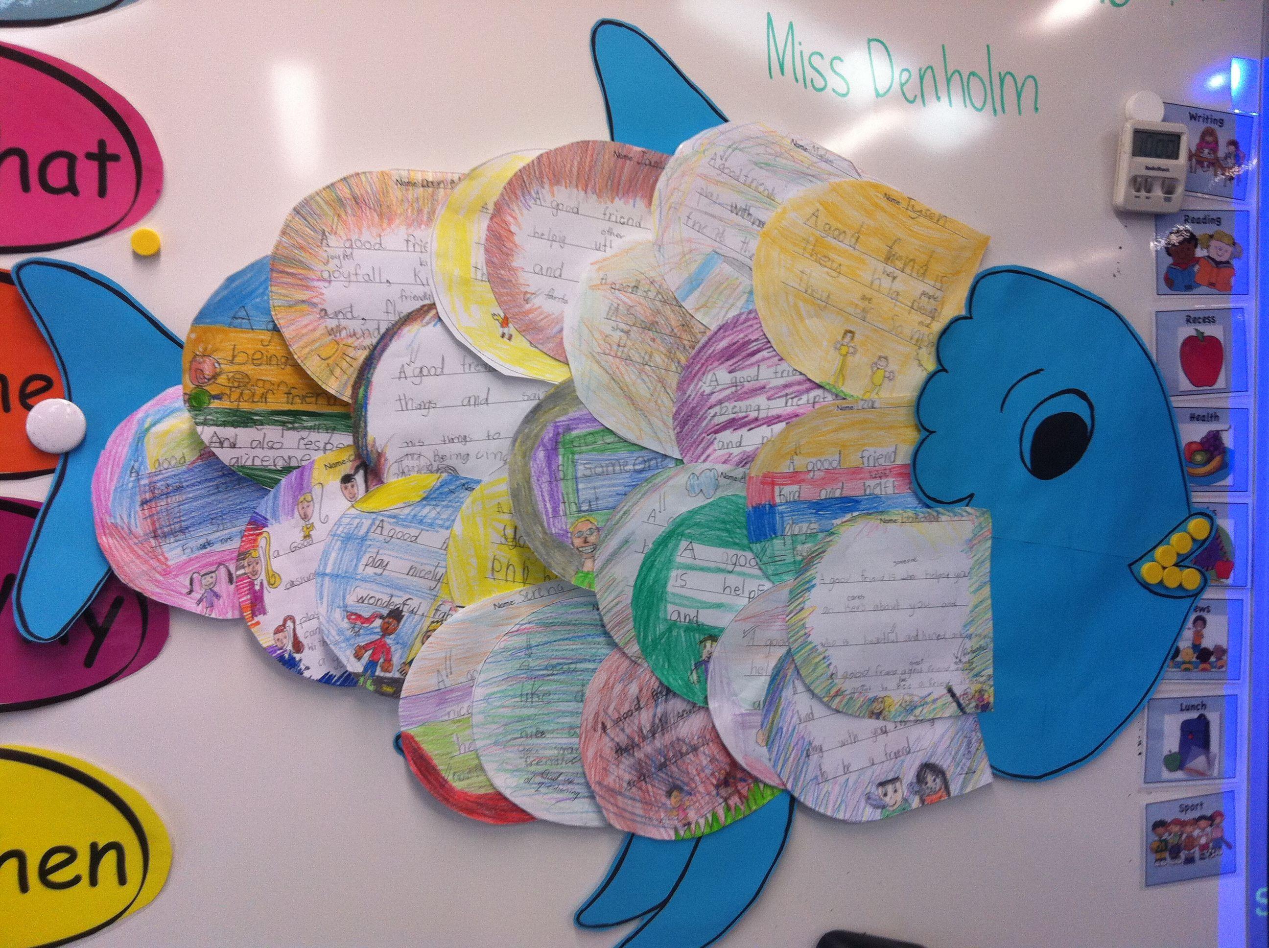 The rainbow fish friendship lesson friendship lessons for Rainbow fish lesson plans