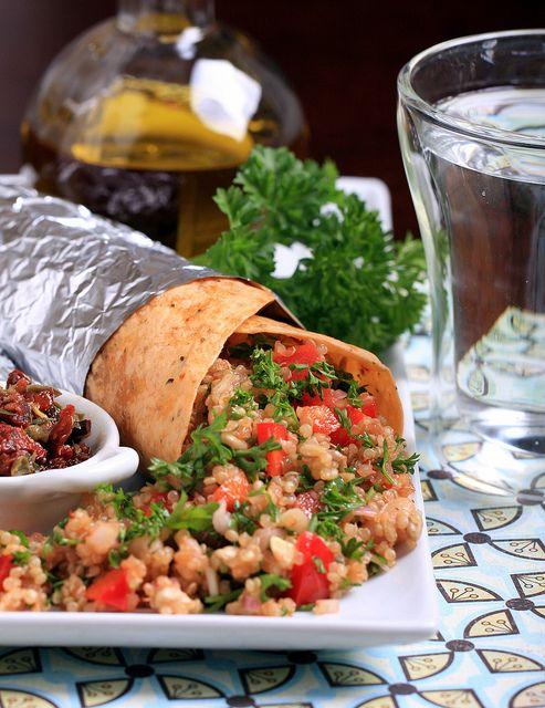Protein Happy Quinoa Wraps