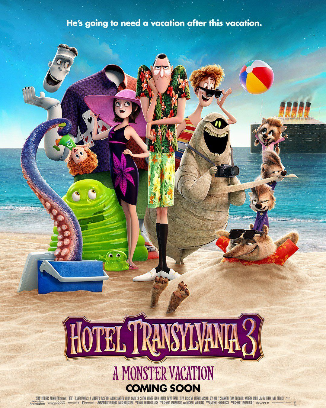 Hotel Transylvania 3 New Film Poster Https Teaser Trailer Com