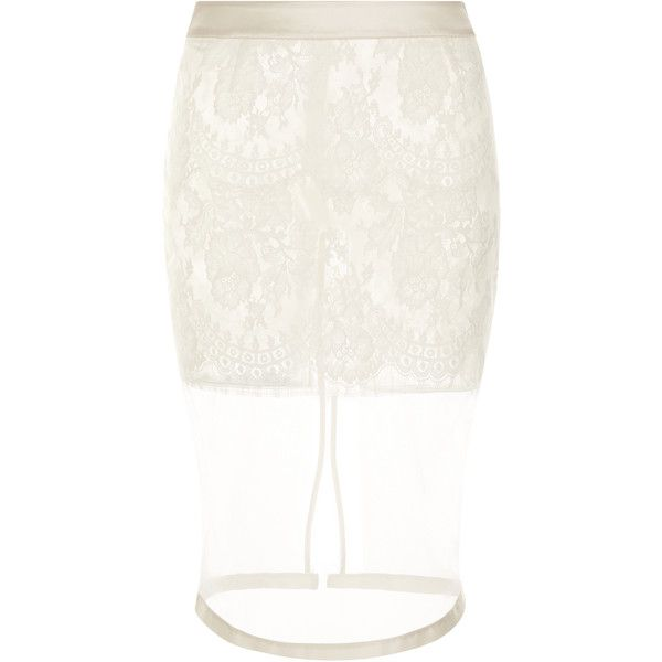 La Perla Freesia Skirt ($894) ❤ liked on Polyvore featuring skirts, natural, stretchy skirt, flower skirt, zipper skirt, flower print skirt and floral print skirt
