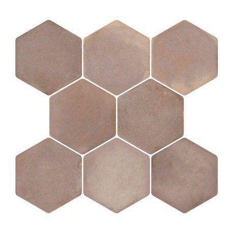 Carrelage hexagonal mat gris 37.2 x 38.8 cm - HE0504004