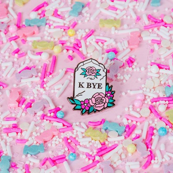 a great addition to your pin collection. Punky Pins – K Bye Enamel Pin www.thunderegg.co.uk