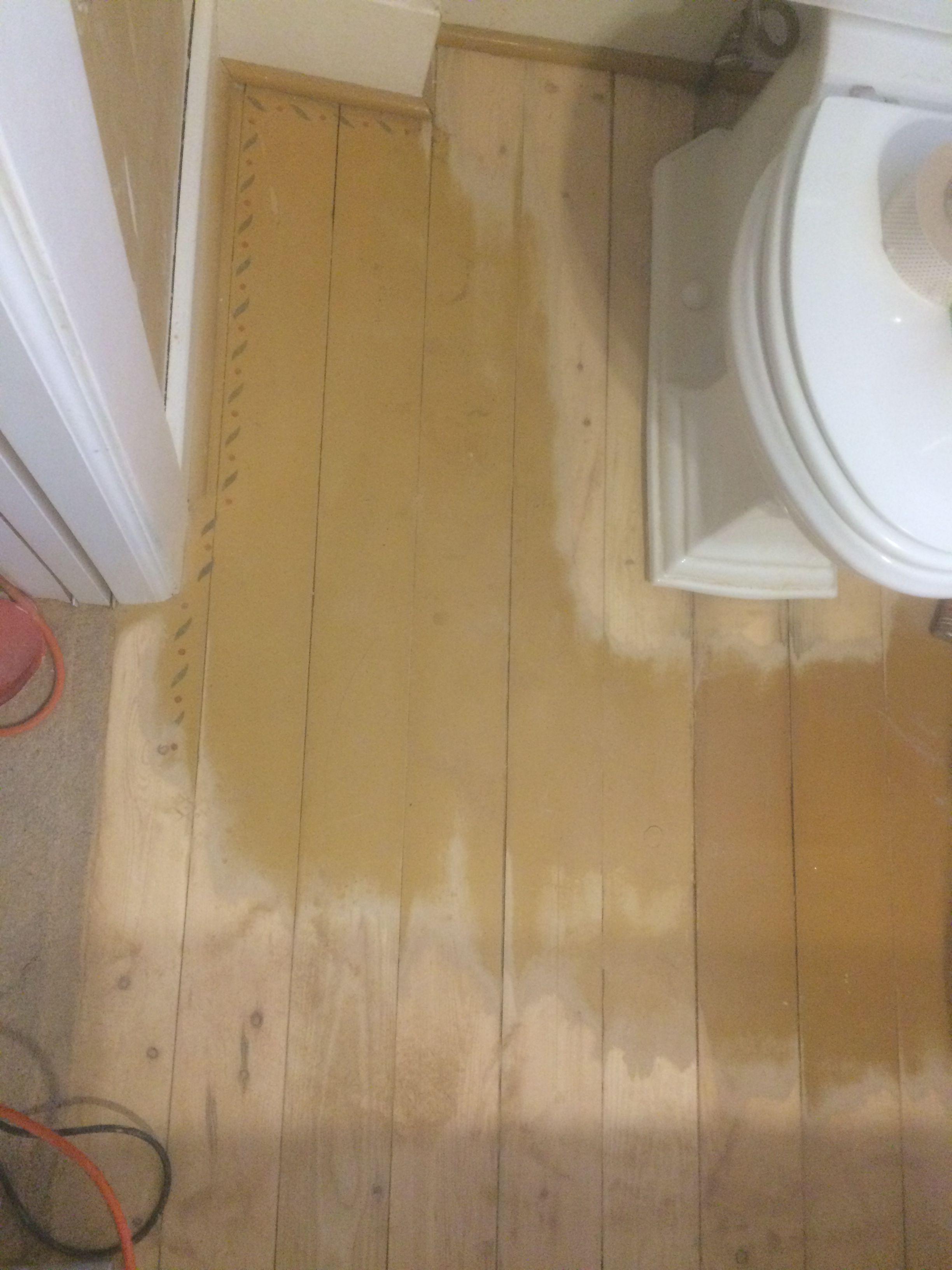Sanding The Painted Floor Major Sawdust Bathroom Restoration Flooring Vintage Bathroom
