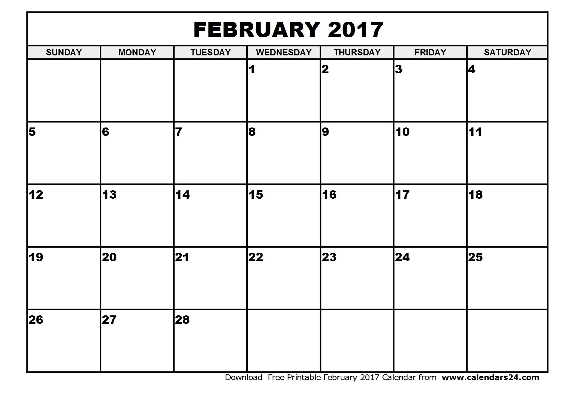February  Calendar   Calendar