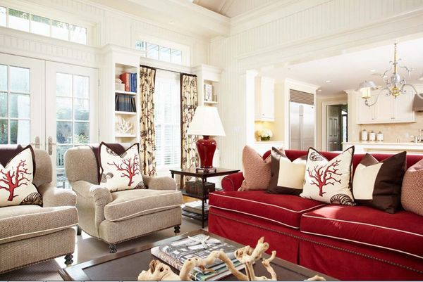 22 Beautiful Red Sofas In The Living Room Home Design Lover Red Couch Living Room Red Sofa Living Red Sofa Living Room