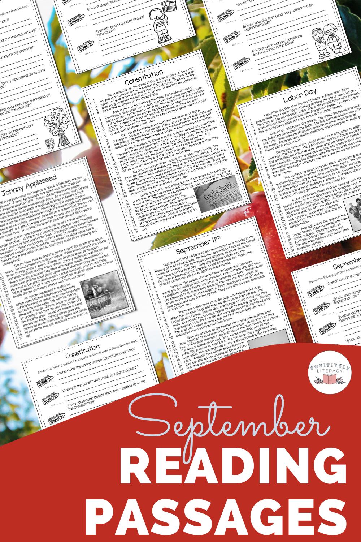 September Nonfiction Reading Passages Nonfiction Reading Passages Reading Passages September Reading [ 1500 x 1000 Pixel ]