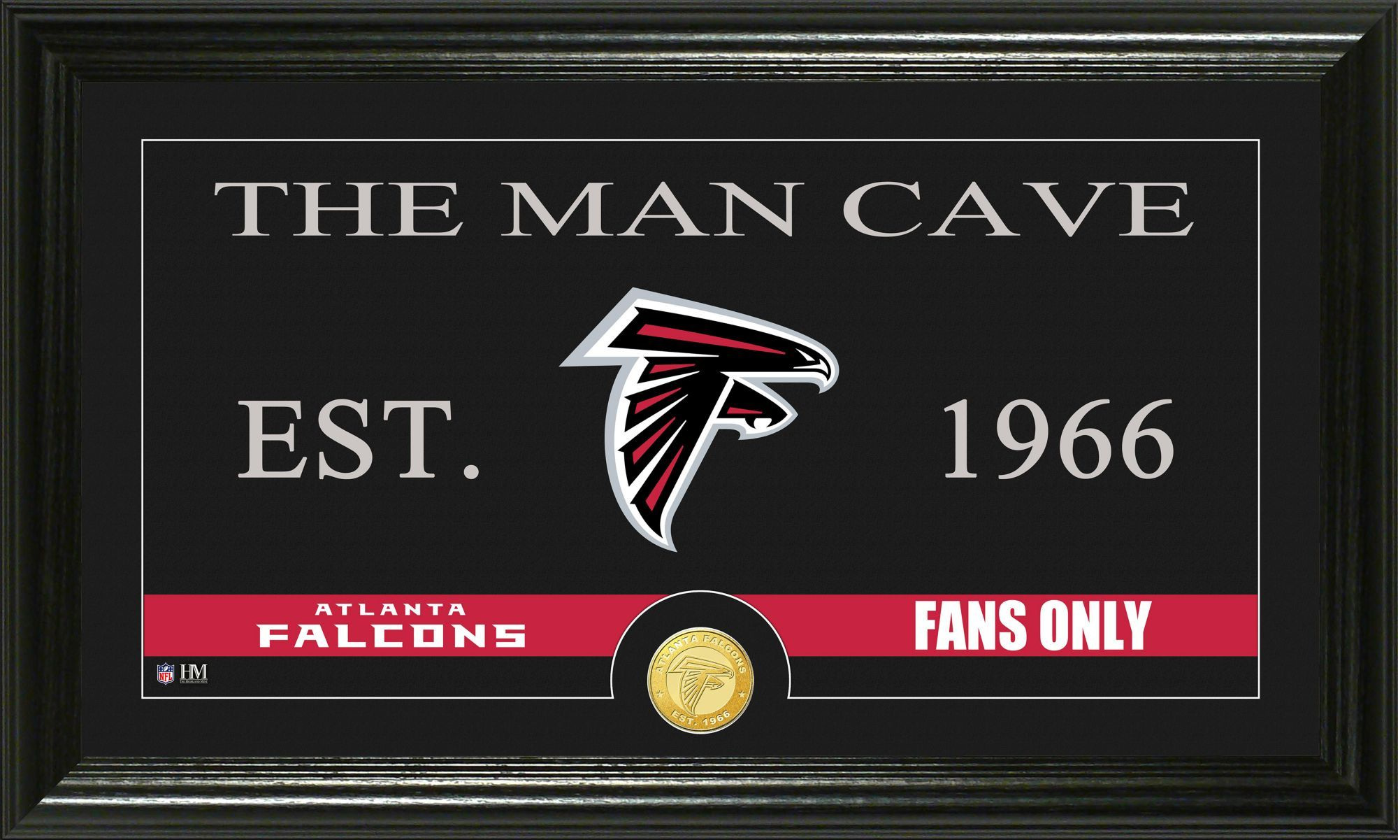 The Highland Mint Atlanta The Man Cave Framed Bronze Coin Photo Mint Team Atlanta Falcons Man Cave Atlanta Falcons