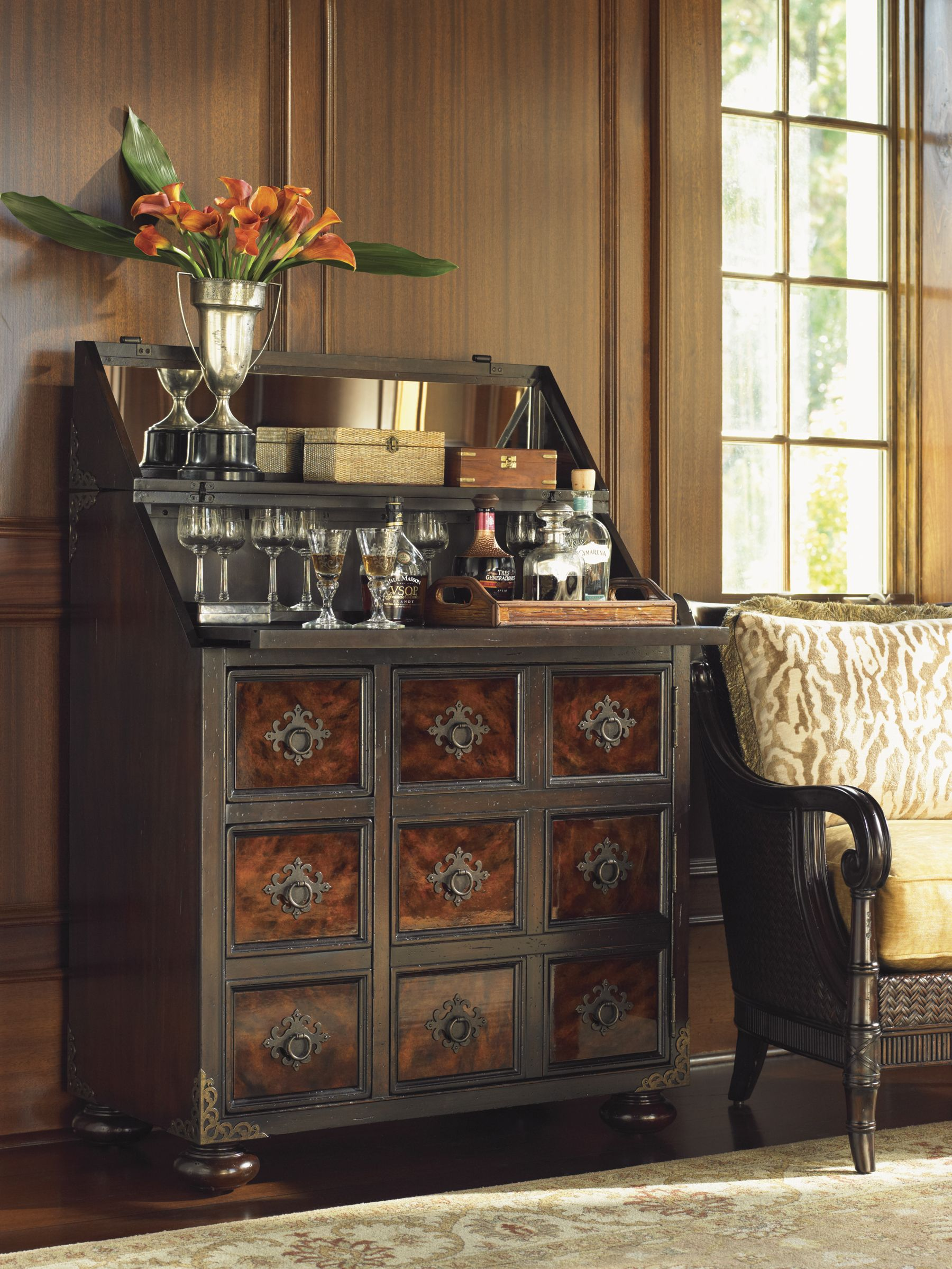 Tommy Bahama Home Island Traditions Churchill Bar Cabinet LVMkt NancyGrace