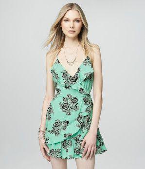 Floral Ruffle Wrap Dress - Aéropostale®