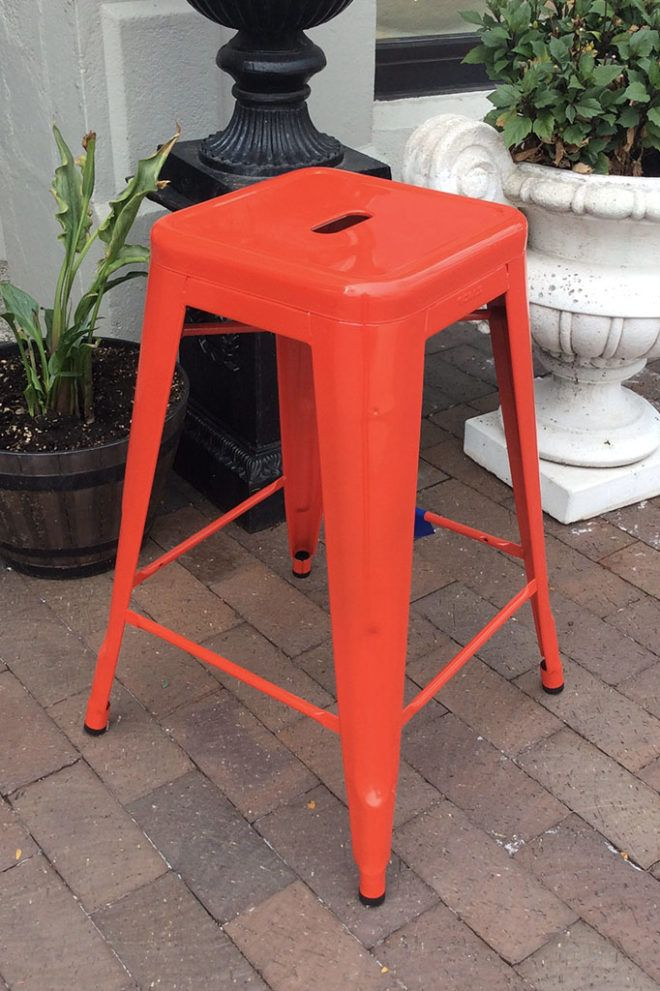 Pleasing Tolix Counter Stool Traffic Red 149 00 While Supplies Machost Co Dining Chair Design Ideas Machostcouk