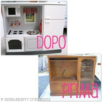 Come trasformare un vecchio mobile in una cucina per ...