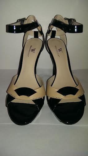 "Worthington black and tan heels, size 9M, approx 5.5"" heel height   2011NurseJessieFashions"