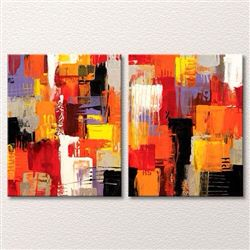 Abstract fall painting