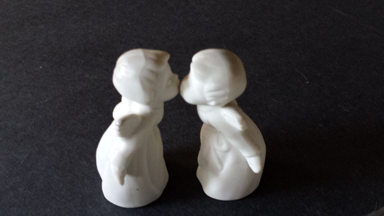 Kissing angels vintage white bisque by cottagelifedona on etsy