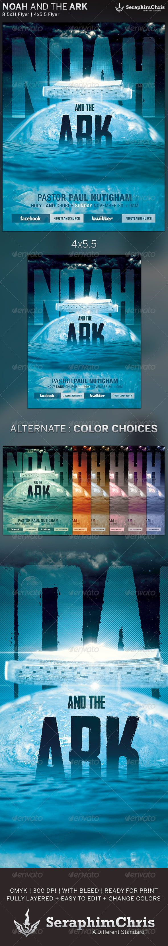noah and the ark church flyer template flyer template church noah and the ark church flyer template is designed for church events and sermons that