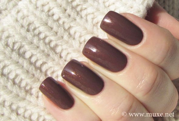 "brown nail polish- OPI ""wooden shoe like to know"""