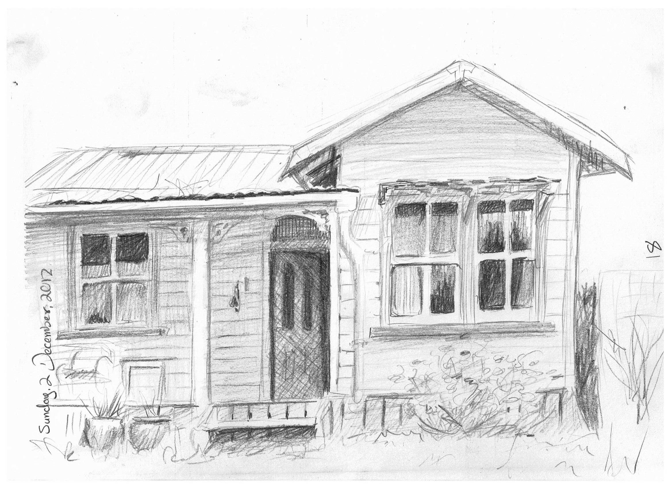 Old house drawing 02 12 12 365 days of drawing for Draw your house