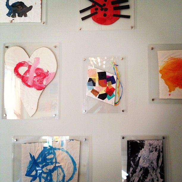 childrens art in acrylic frames via bryn alexandra - Muji Frames