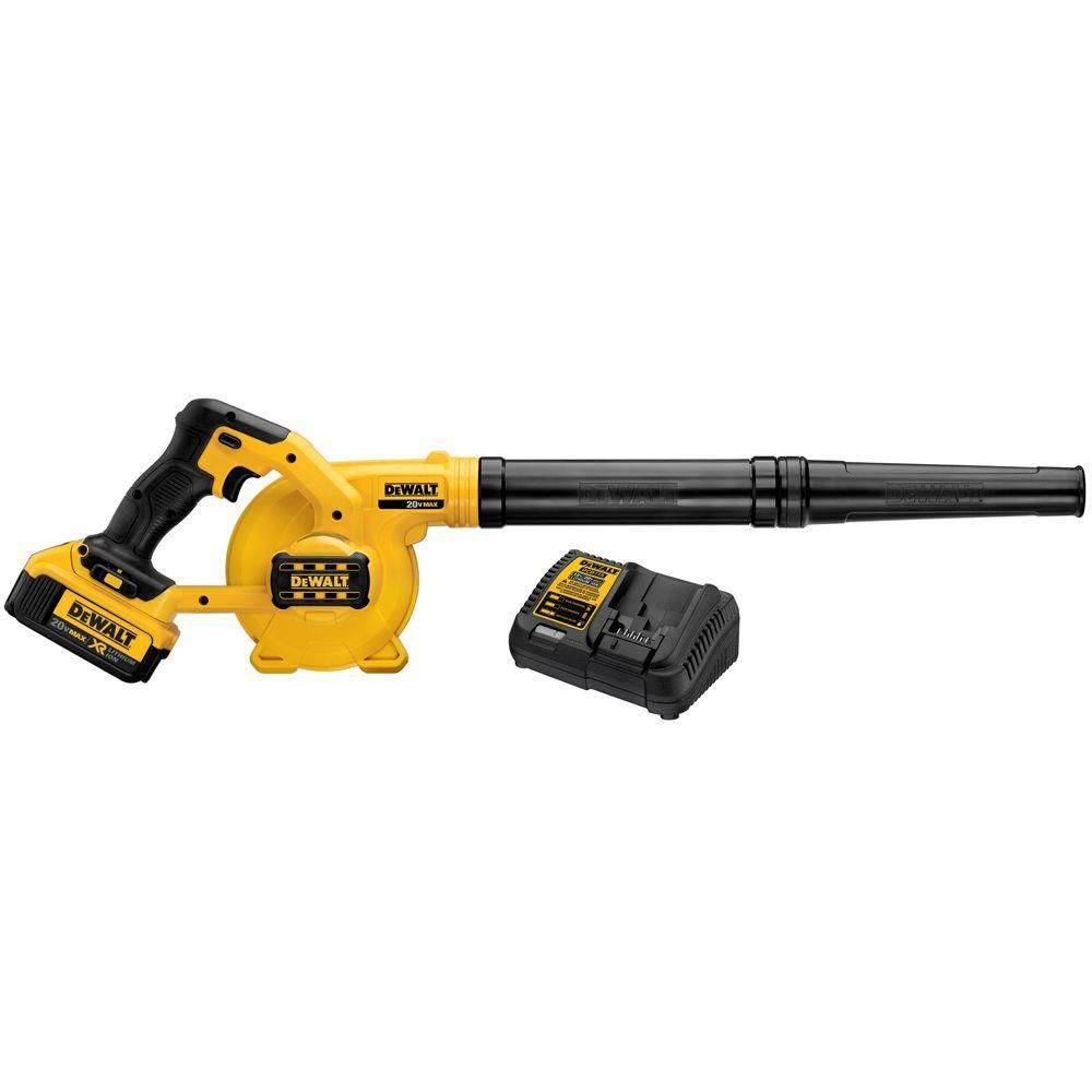 Dewalt 135 Mph 100 Cfm 20 Volt Max Xr Lithium Ion Cordless Blower Kit With Battery 4ah And Charger Dewalt Blowers Cordless Tools