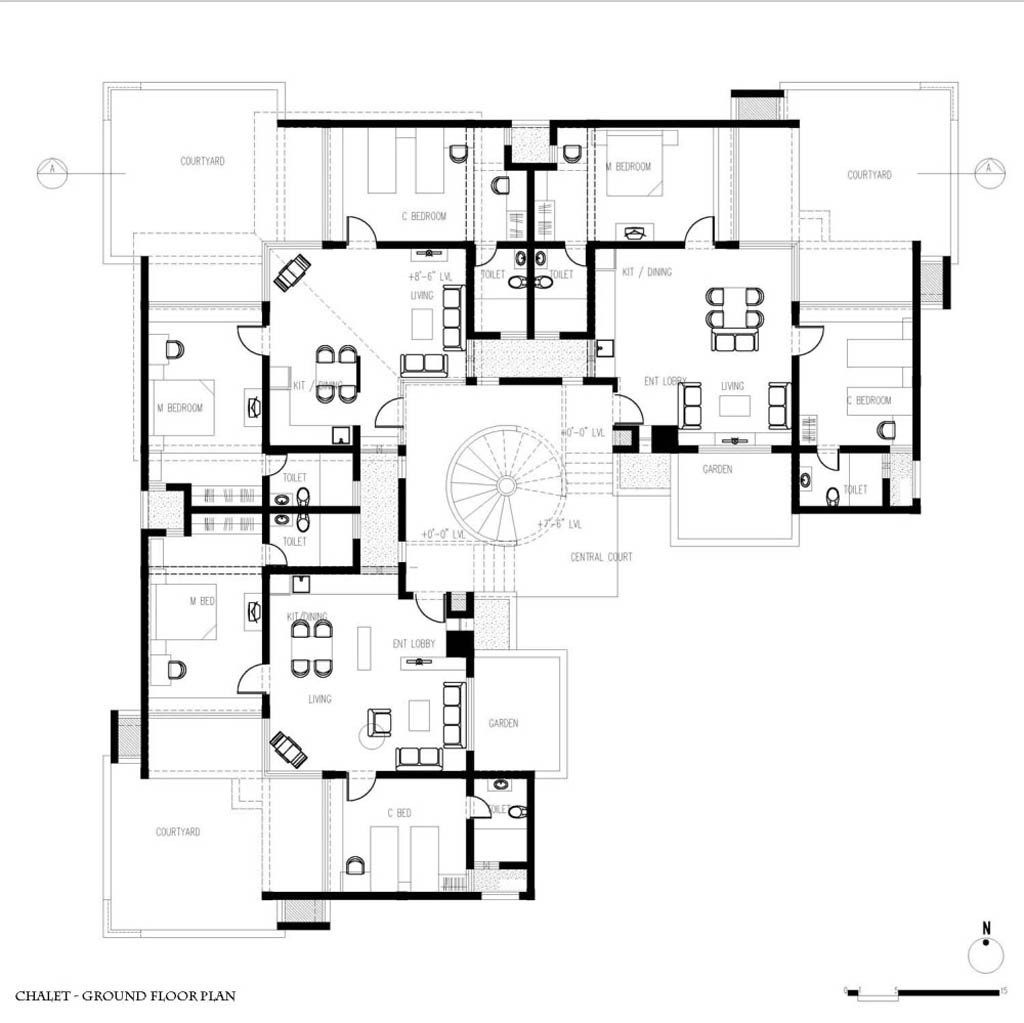 Small modern guest house plans for Modern guest house plans
