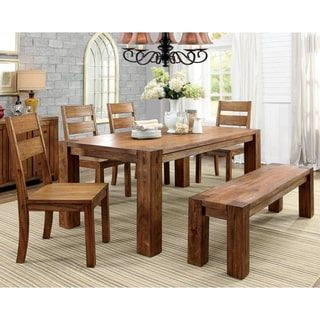 Furniture of America Clarks Farmhouse Style Dining Table - Free ...