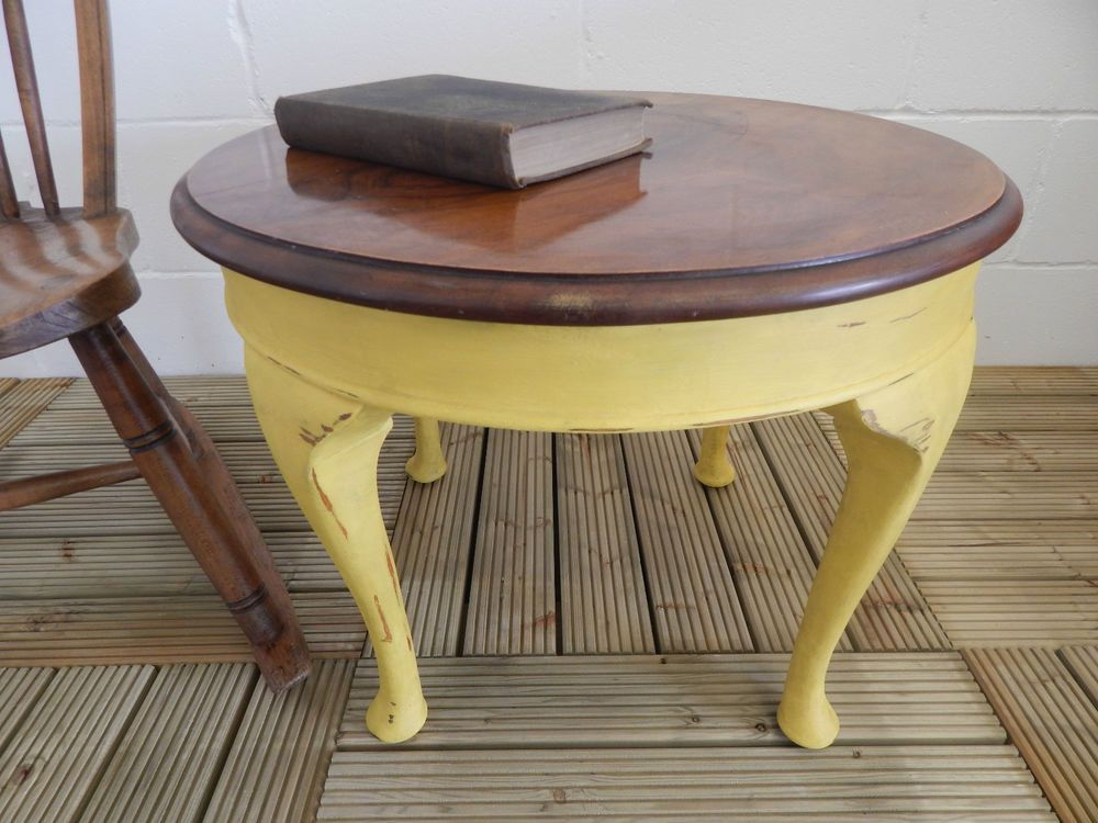 Wooden Table Painted With Annie Sloan English Yellow Paint Local