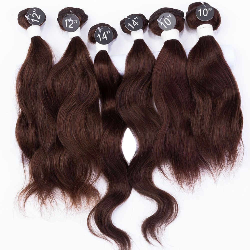 EVET Menschliches Haar Webart Natürliche Welle Haar Weben 7A Bestnote 6 stücke 200 gr/satz Unverarbeitete Reine Menschenhaar Extensions