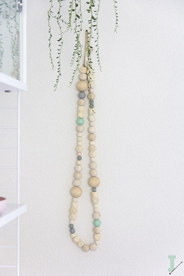 After a weekend of hard work theIDA wooden bead garlandsare ready, oh yeah!I've noticed a lot of interest in the one I have behind my bed, so I decided to make a small limited col…