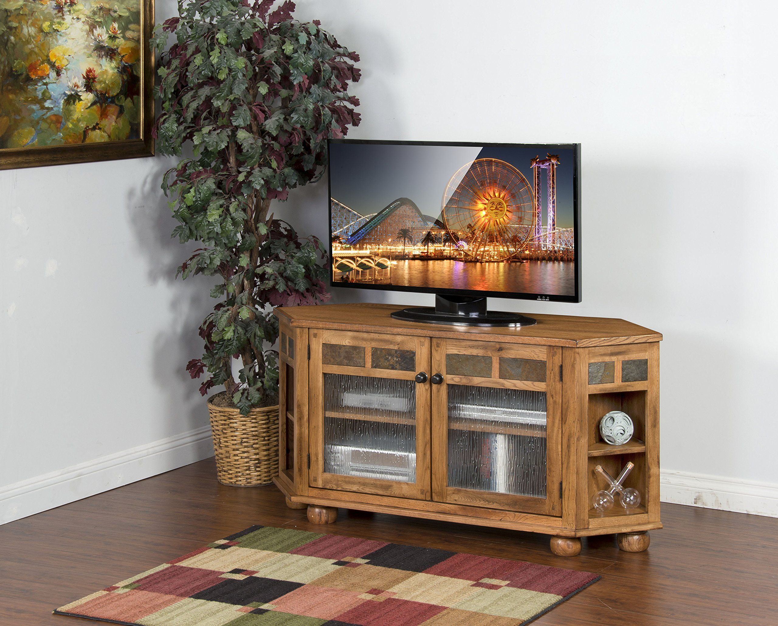 Sunny designs sedona corner hutch and tv console television stands
