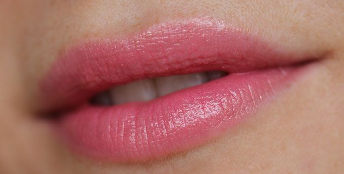 5870f75aaf1c2f {CHANEL Rouge Coco Shine #57 Aventure} a great year-round glossy pink  lipstick.