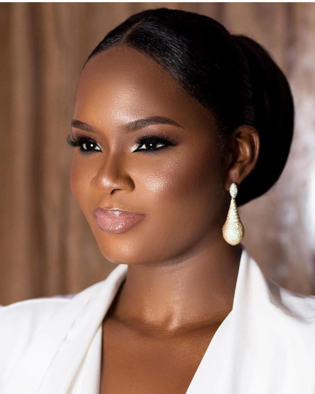 Image result for bridal makeup looks for black skin
