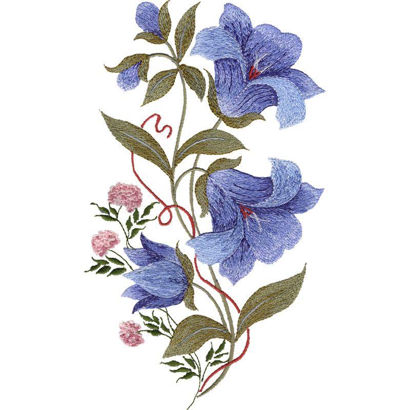 Vintage Blooms Botanical Bluebells Tattoo Ideas