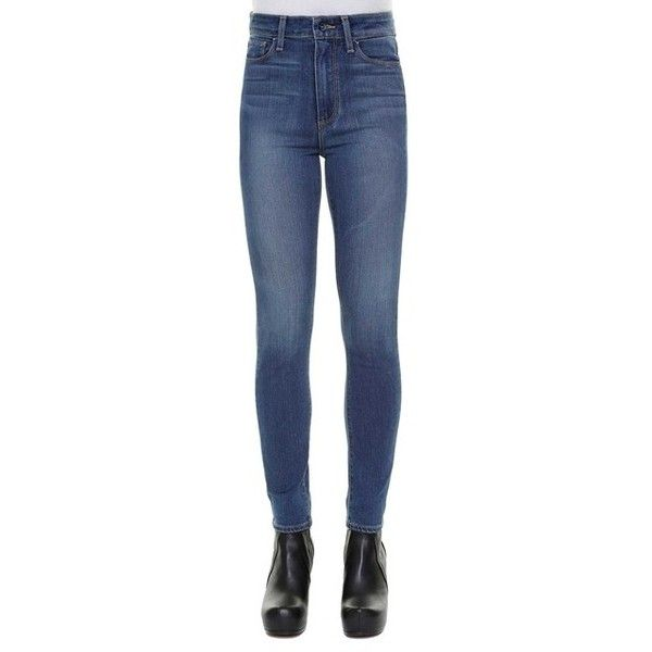 PAIGE 'Margot' Ultra skinny jeans ($245) ❤ liked on Polyvore featuring jeans, blue, skinny jeans, denim skinny jeans, paige denim skinny jeans, paige denim and skinny leg jeans