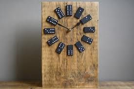 Domino Clock I Like It Makes Me Think Of Playing Dominos With Grandpa Joe Creative Arts And Crafts Reclaimed Wood Projects Diy Inspiration