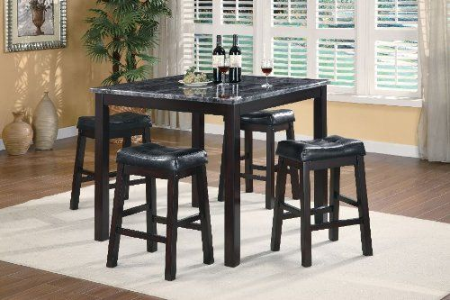 Coaster 5 Piece Sofie Counter Height Dining Set Dark Cappuccino By