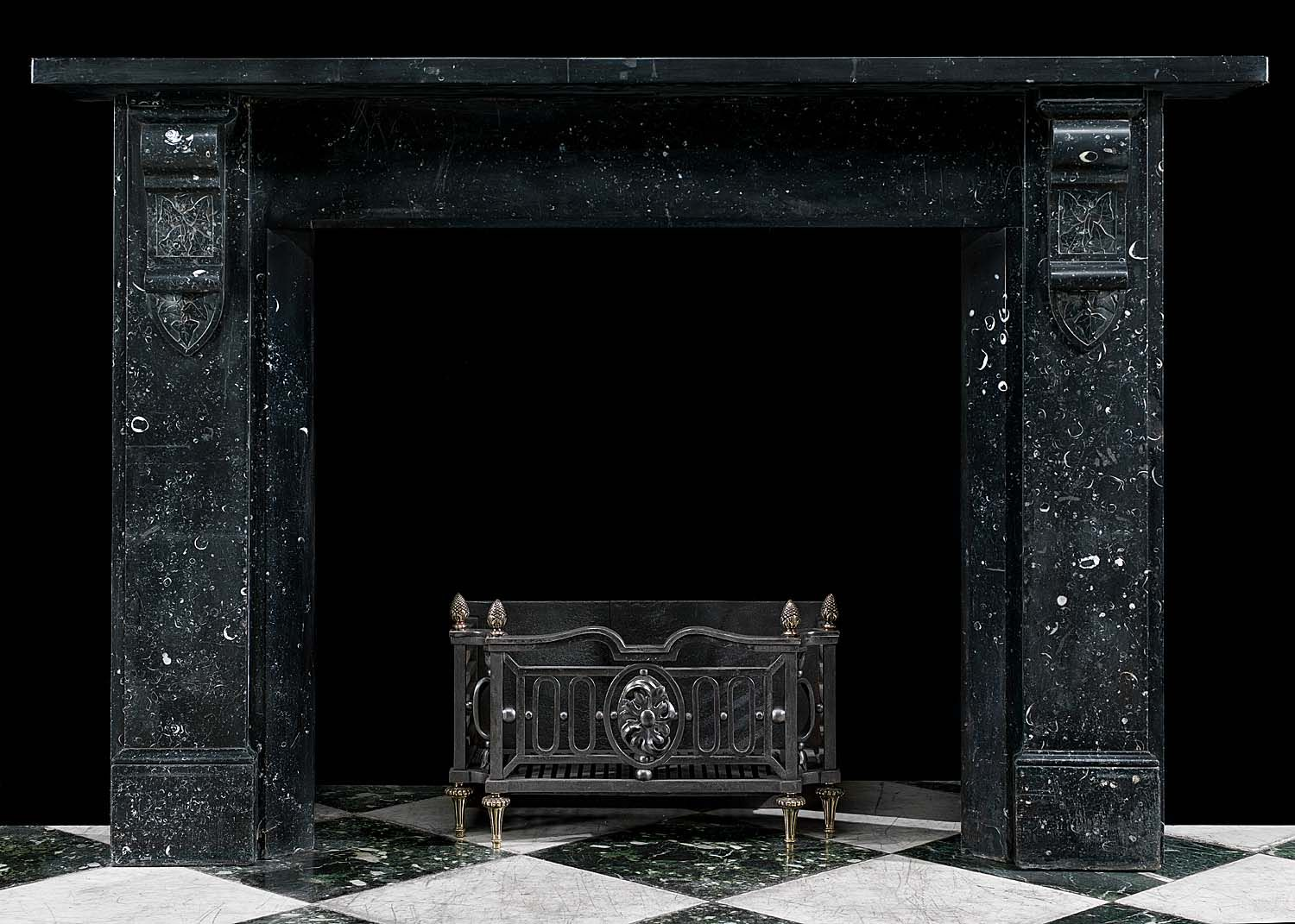 a large and elegant victorian fireplace surround in black kilkenny rh pinterest com