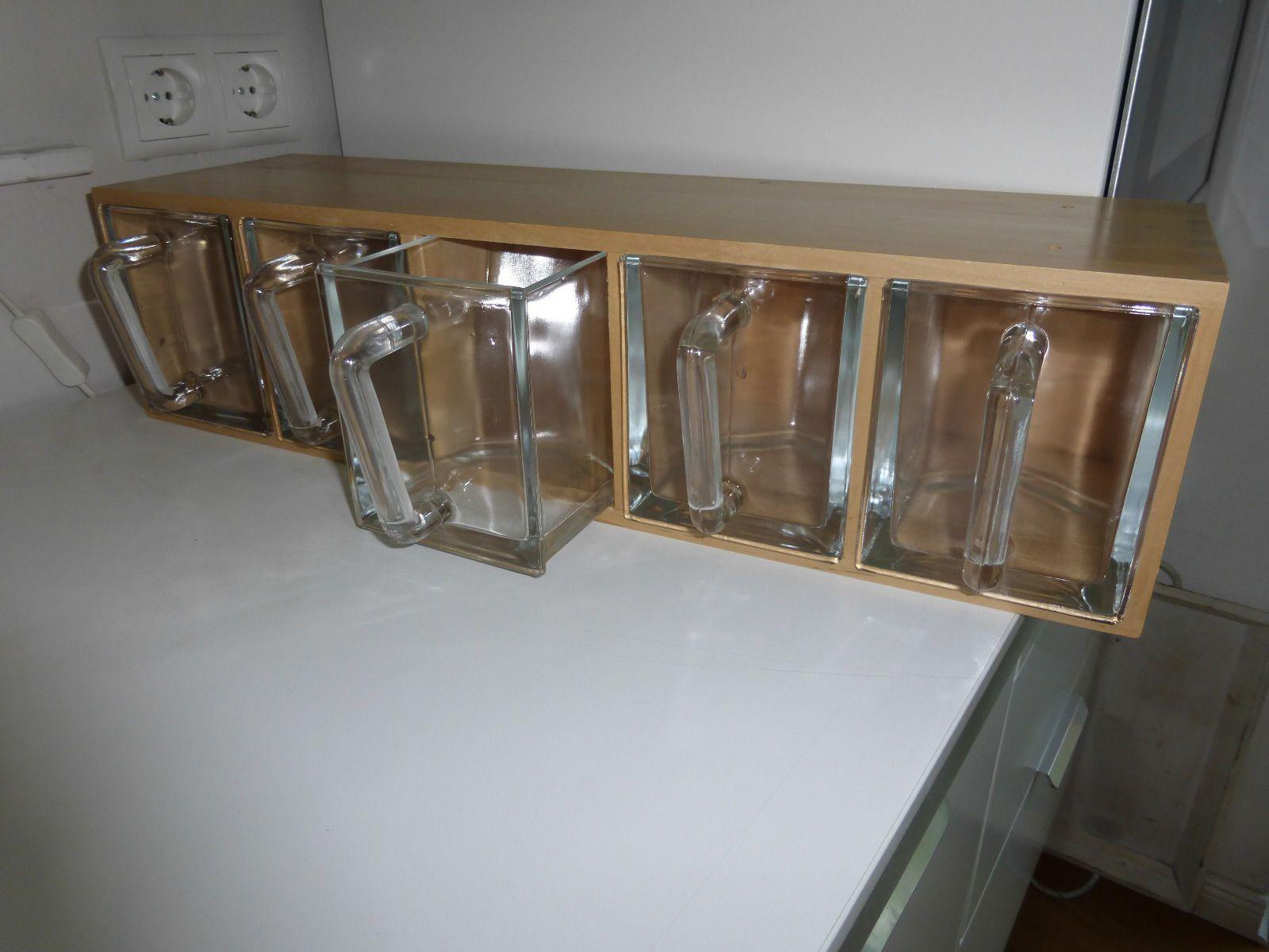regal mit glassch tten ikea gebraucht in m bel wohnen m bel regale aufbewahrung ebay. Black Bedroom Furniture Sets. Home Design Ideas