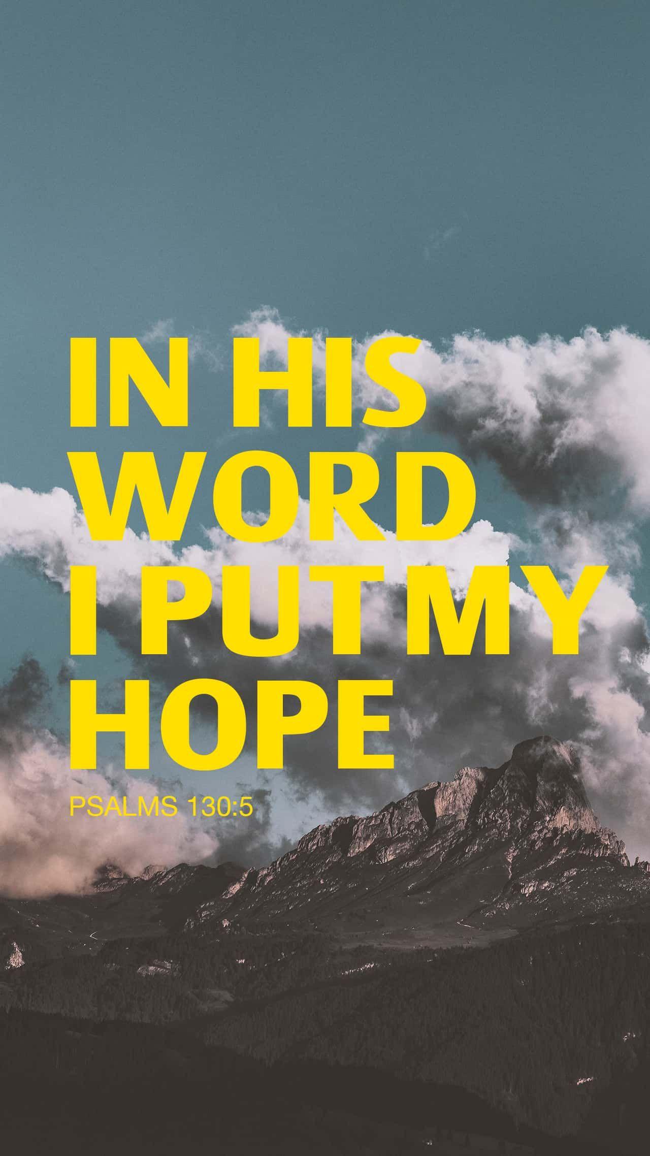 Psalm 1305 in 2020 Psalm 130, Psalms, Psalms 130 5