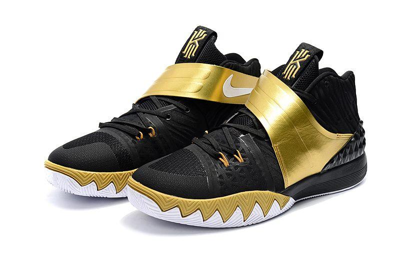 designer fashion ce7e2 1de46 Nike Kyrie S1 Hybrid Black Gold Basketball Shoe Cheap Kyrie Shoes 2018