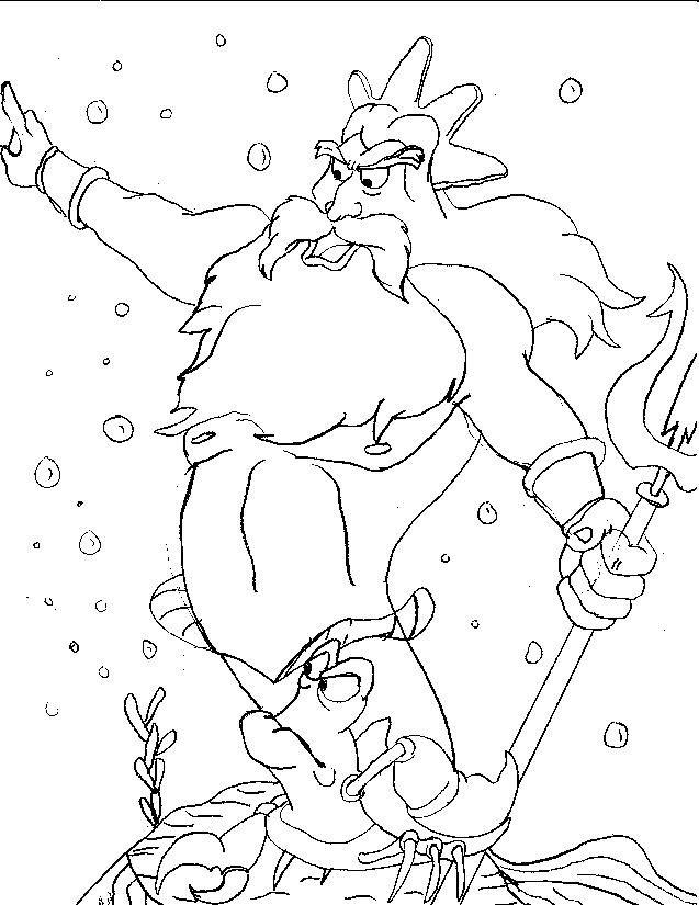 Little Mermaid | Coloring pages, Kids design, Mermaid