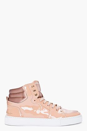 0f6ccaf2cf70 Yves Saint Laurent Nude Patent Malibu Sneakers for women   SSENSE i want!