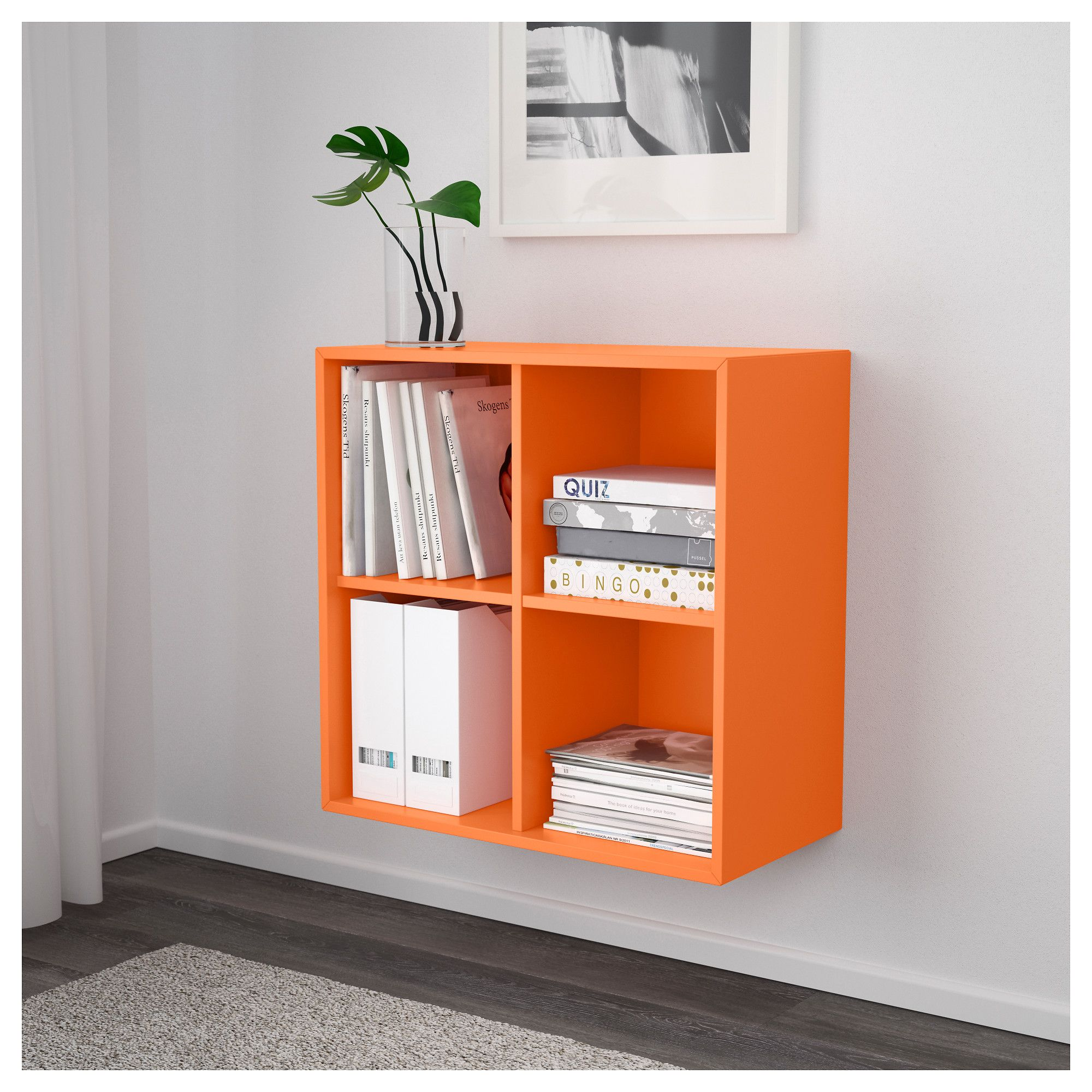 Ikea Expedit Orange Furniture And Home Furnishings In 2019 Kitchen Ideas Wall