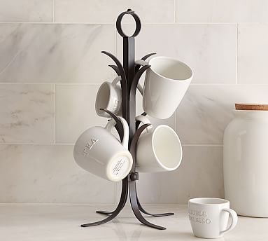 Vintage Blacksmith Mug Tree At Pottery Barn Tabletop