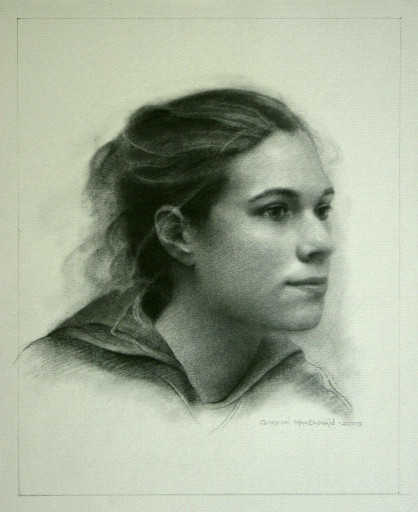 005 A rejected portrait. Gord MacDonald / charcoal on paper
