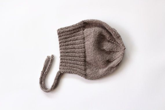 Baby Alpaca and Silk Baby Hat  Hand Knitted Newborn Hat by Junikid