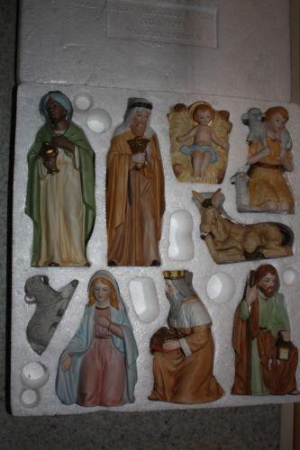 homco vintage nativity set 9 pieces nib 5599 home interiors