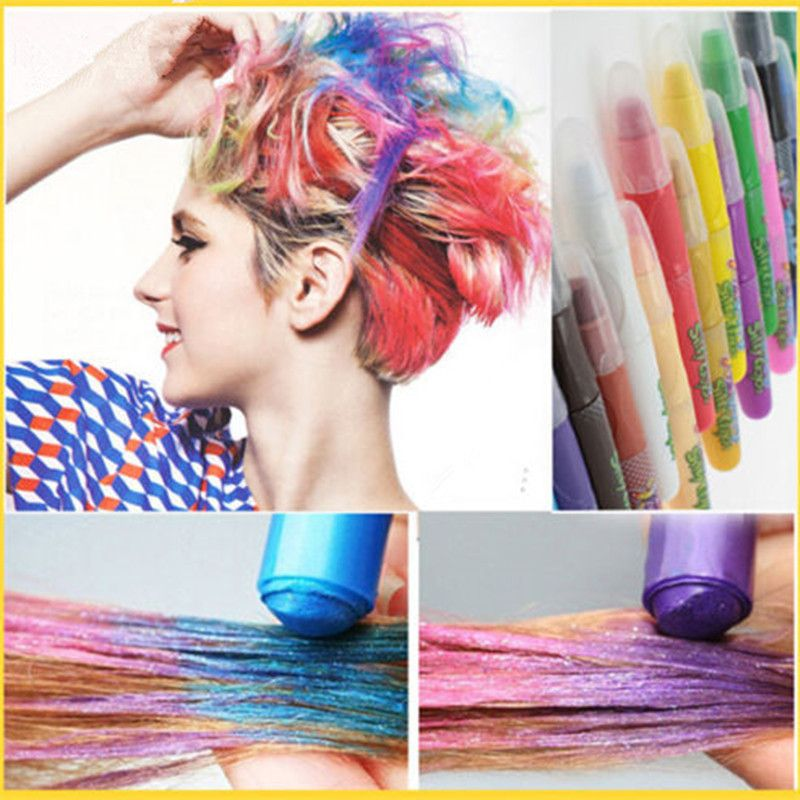 New Fashion 6 Colors Hair Dye Temporary Hair Chalk Powder Soft Salon