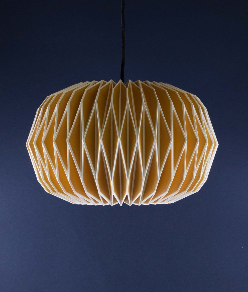 Paper Light Shades Gorgeous Yellow Origami Light Shade 34 99 Free Uk Delivery
